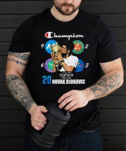 Champion 20 novak djokovic signature shirt