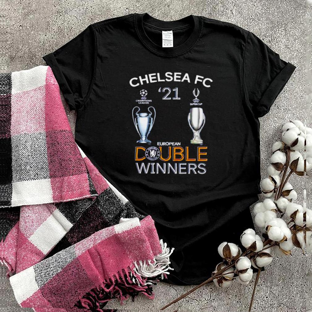 Chelsea FC UEFA 2021 double winners shirt