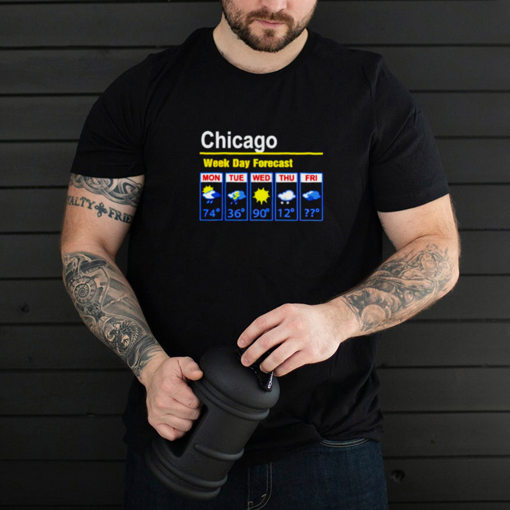 Chicago weather week day forecast shirt