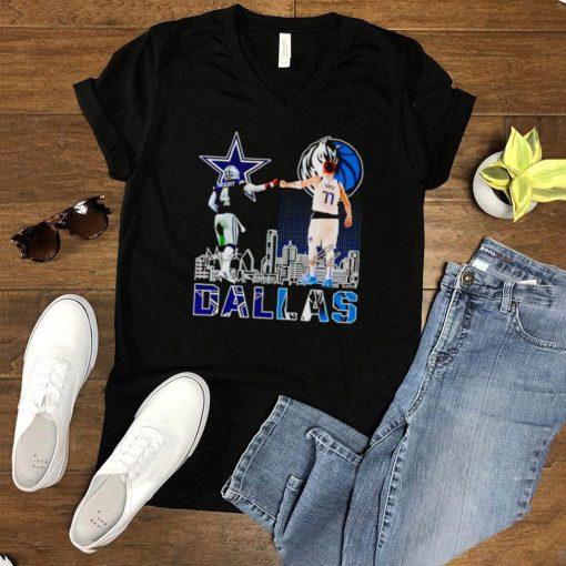 Dallas city champions players Prescott and Doncic shirt