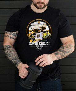 David krejci 2006 2021 signature shirt