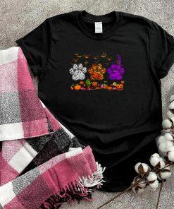 Dogs Paw Pumpkin Halloween T shirt