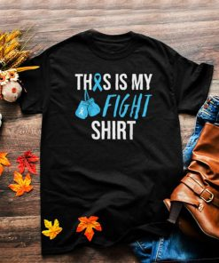 Fight Prostate Cancer Awareness Light Blue Ribbon Survivor T Shirt
