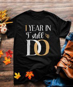 First 1st 1 year Wedding Anniversary Husband Wife T Shirt