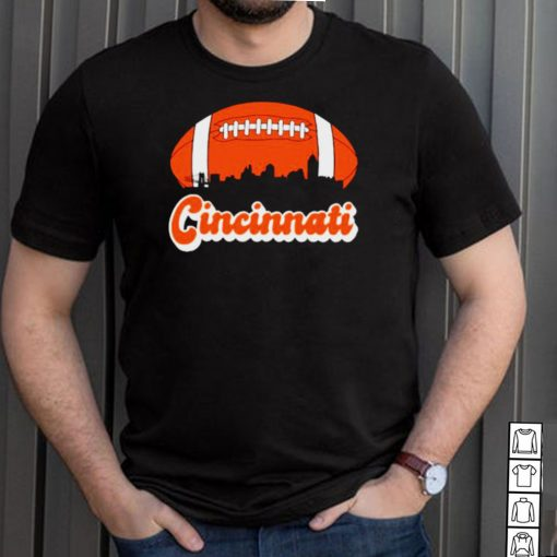 Football Cincinnati Sunset Retro T Shirt