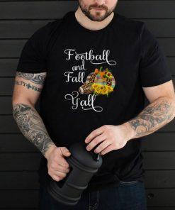Football and Fall Yall Sunflower Leopard T Shirt