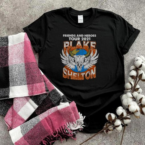 Friends And Heroes Blakes tour 2021 Shelton T Shirt