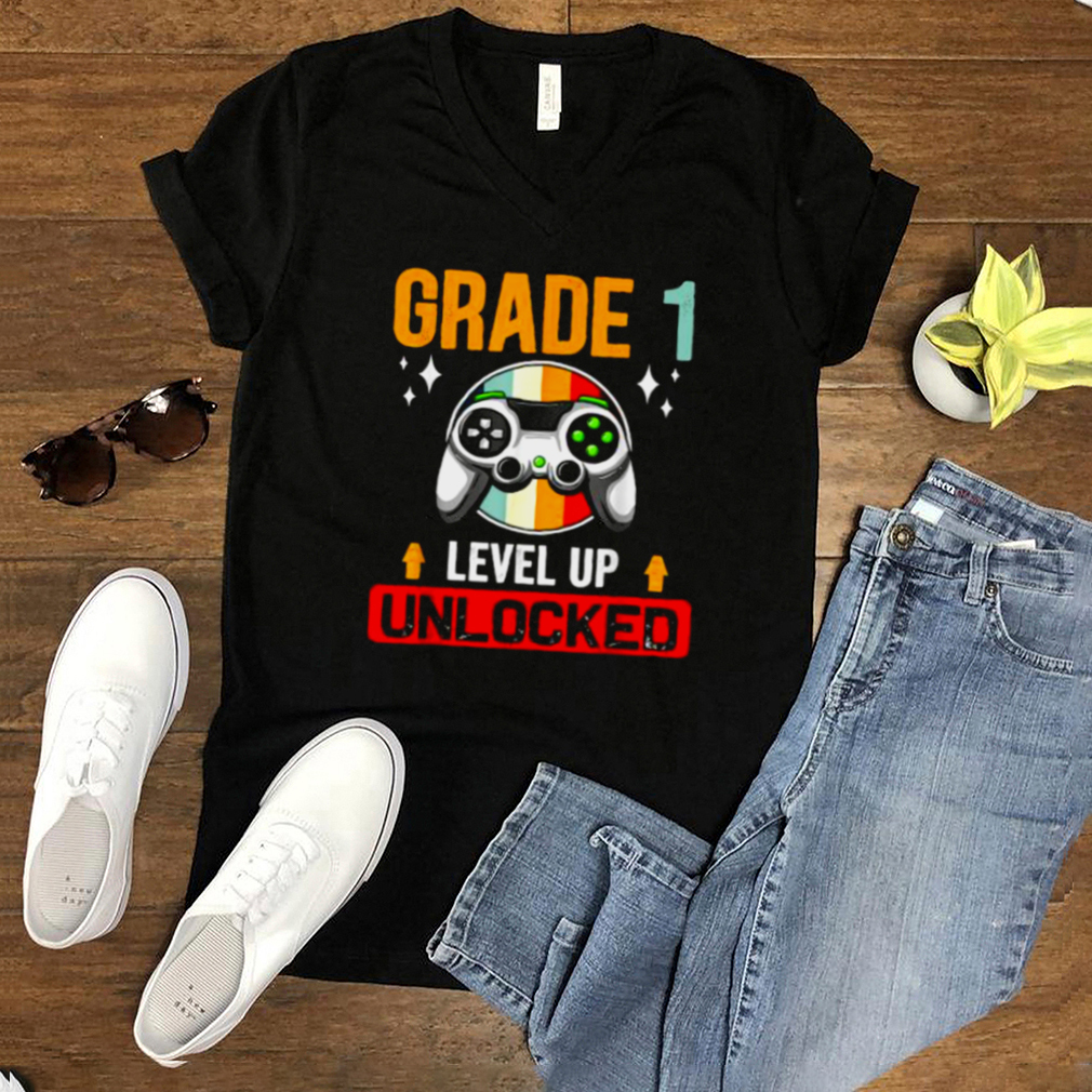 Grade 1st Level Up Unlocked Back To School Vintage T Shirt