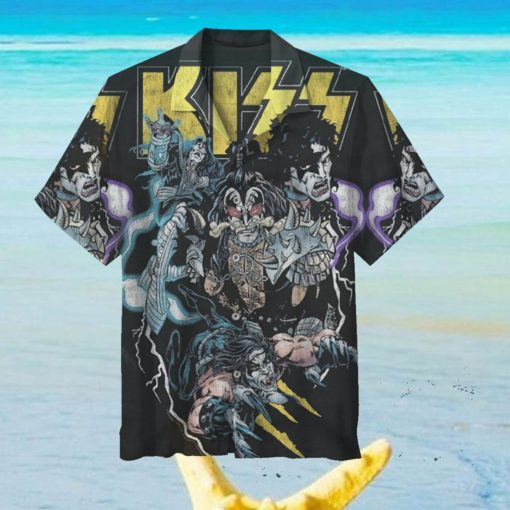 Halloween Series Kiss Hawaiian Shirt