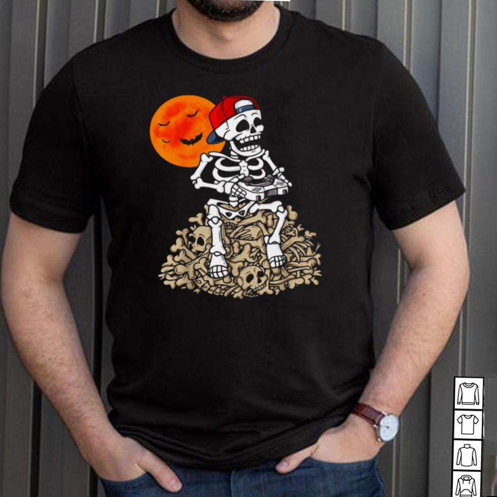 Halloween Skeleton Gamer Boys Gaming T shirt