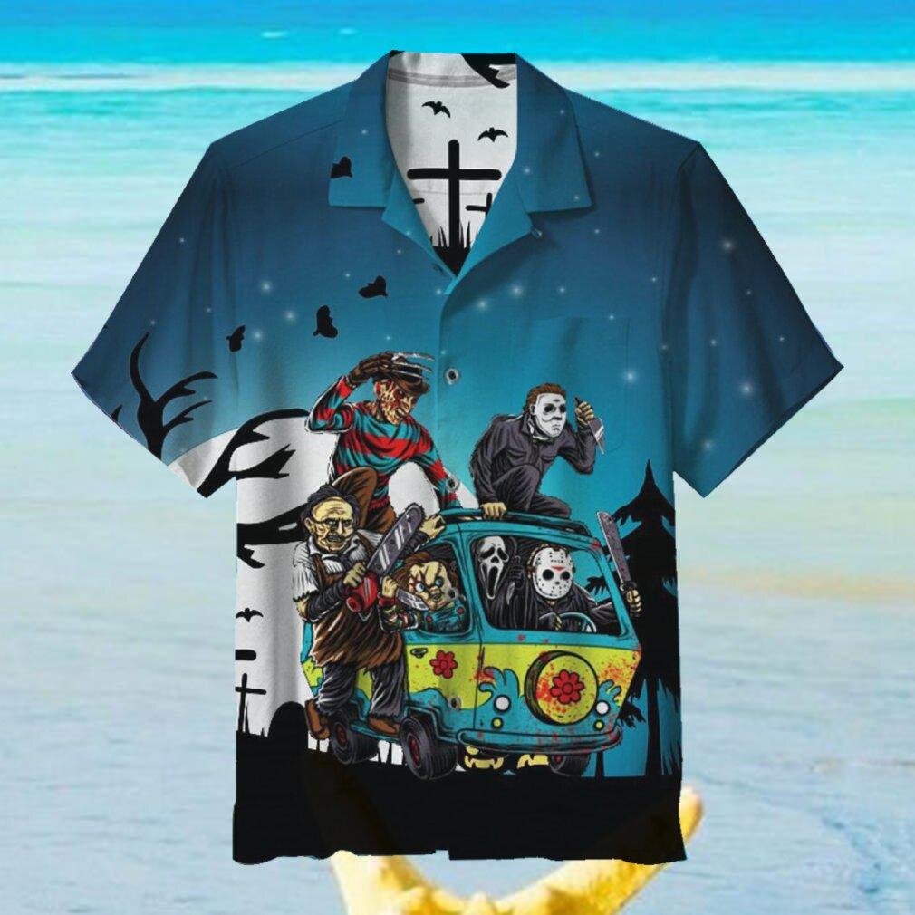 Halloween creepy Hawaiian Shirt