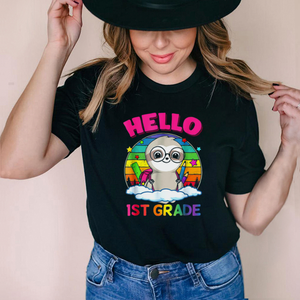 Hello Sloth 1st Grade Back To School Shirt Boys Girls T shirt