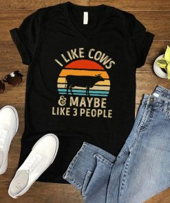I Like Cows And Maybe Like 3 People Vintage Retro T shirt