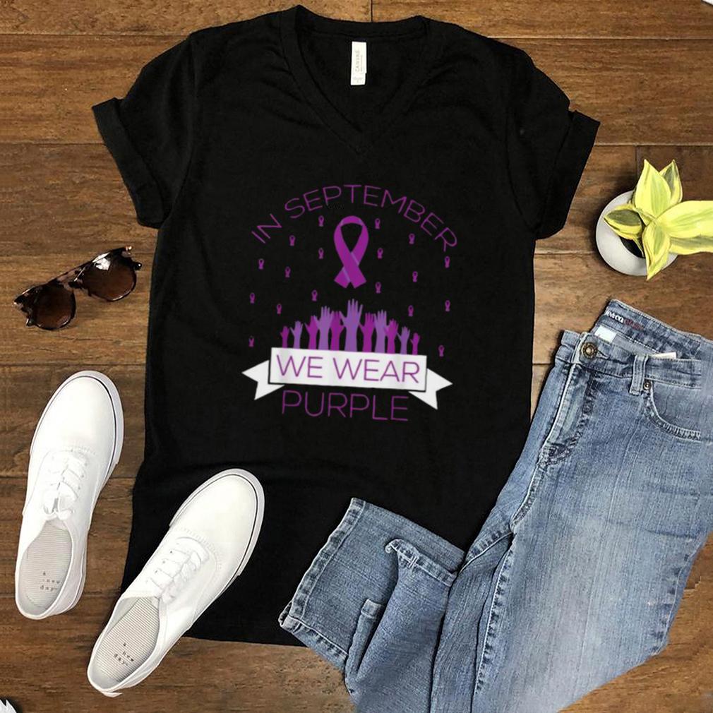 In September We Wear Purple Chiari Awareness Ribbon T Shirt