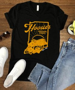 Indiana State Hoosier National Forest Retro Vintage T Shirt