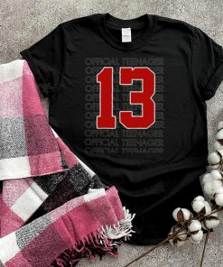 Kids Officialnager 13 Years Old 13th Birthday shirt