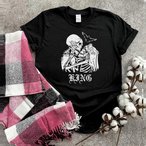 King Kissing Skeletons in Love Skull T shirt