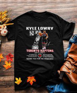 Kyle Lowry 7 Toronto Raptors 2012 2021 thank you for the memories shirt