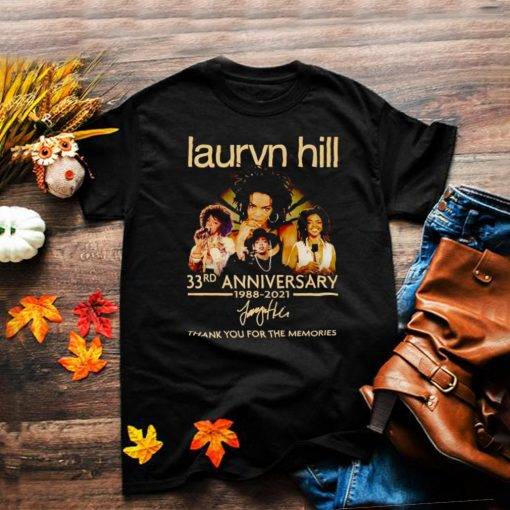Lauryn Hill 33rd Anniversary 1988 2021 thank you for the memories shirt