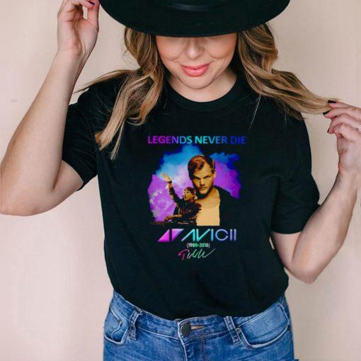 Legends never die Avicii 1989 2018 signature shirt