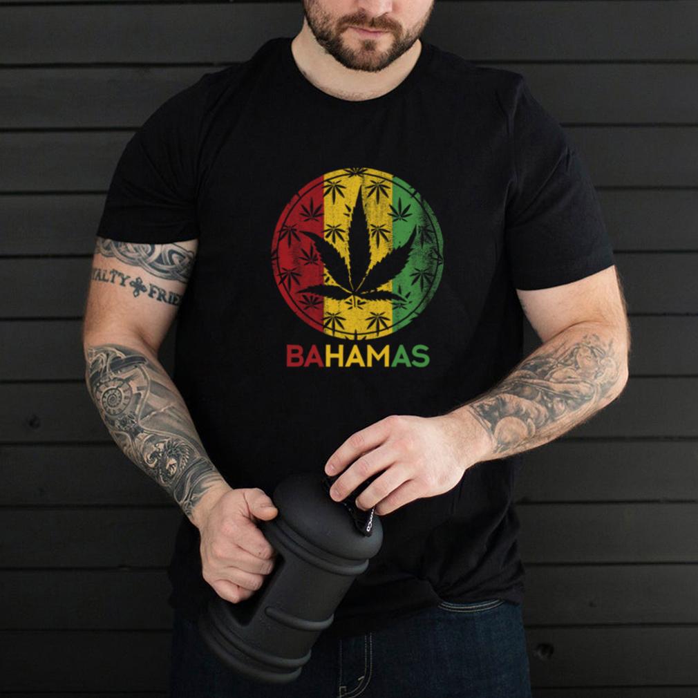 Marijuana des Bahamas Weed Nassau Bahamas Souvenir Voyage Vacances Drapeau Croisière Hommes Femmes T shirt