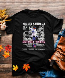 Miguel Cabrera 24 Detroit Tigers 2008 present thank you for the memories shirt