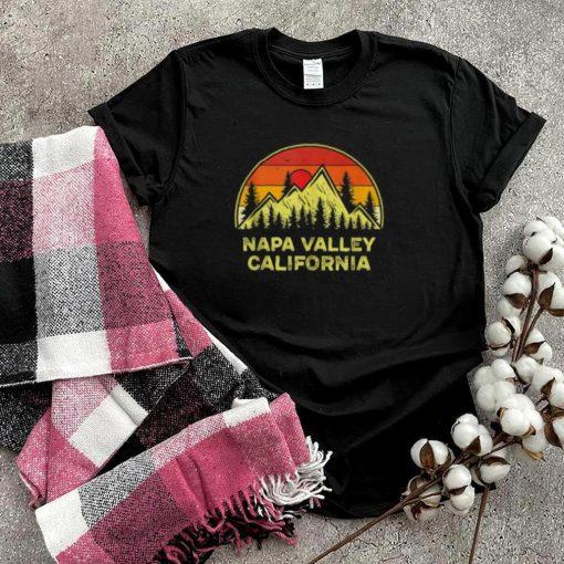 Napa Valley California CA Mountains Hiking Vintage Sunset T Shirt