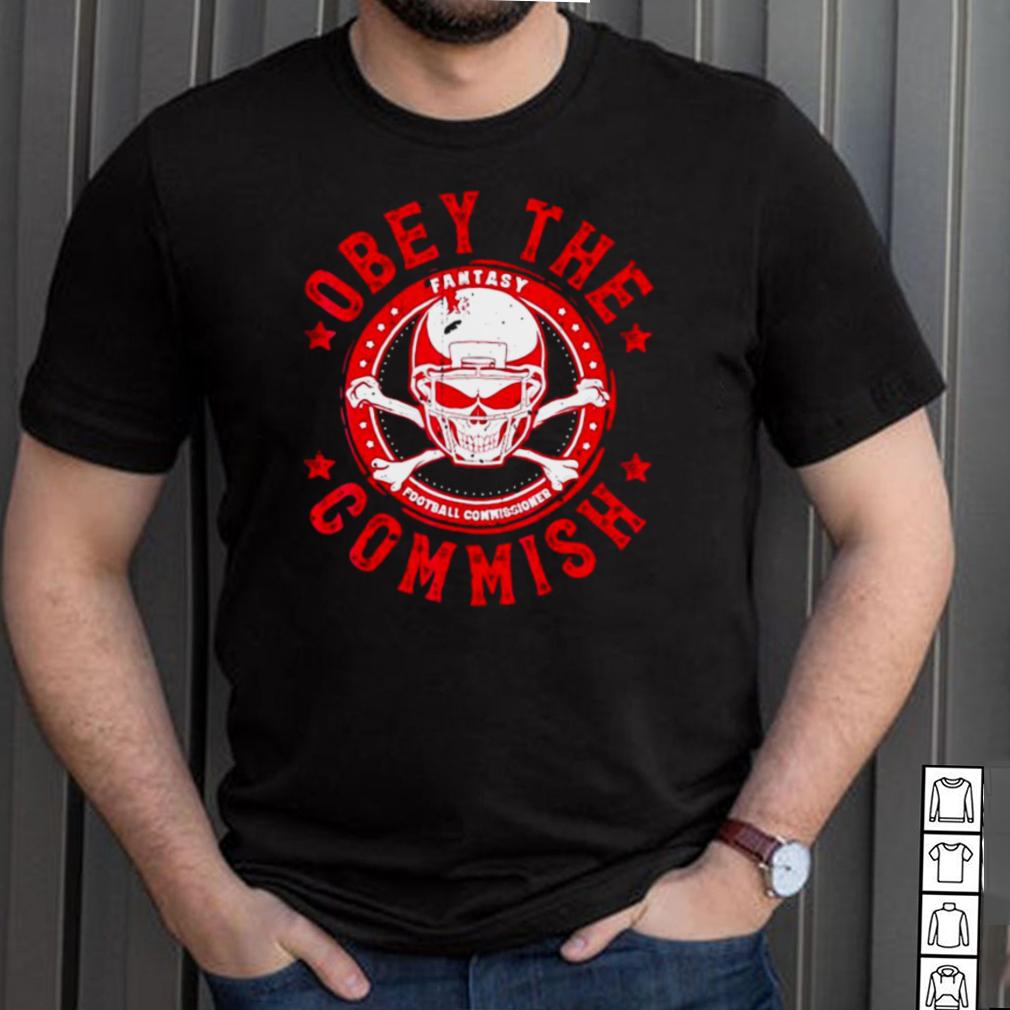 Obey Commish Funny Fantasy Football Champion Draft Vintage T shirt