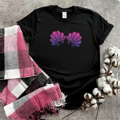 Purple Violet Mermaid Shell Bra Shirt