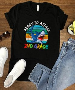 Ready To Attack 2nd Grade First Day of School Shark Vintage T Shirt