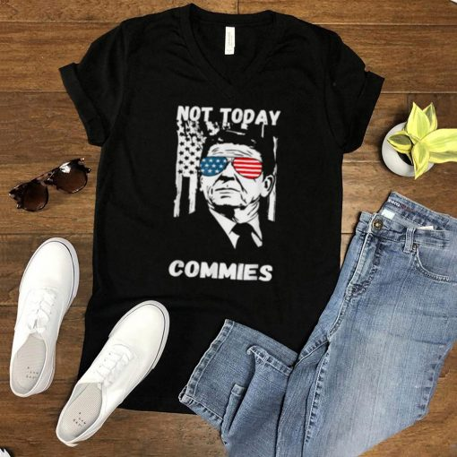Ronald Reagan Not Today Commie Political Humor T Shirt