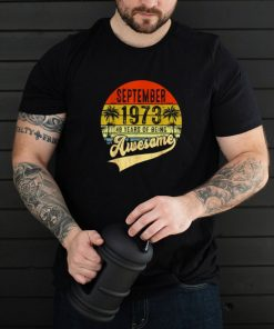 September 1973 48 Years of Being Awesome Since Vintage T Shirt