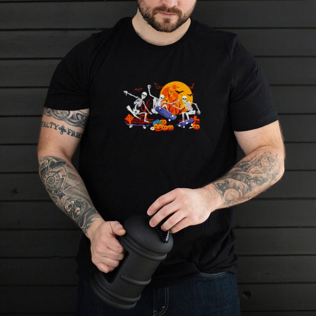 Skeleton Skateboard Halloween shirt