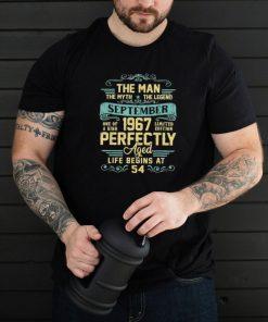The Man Myth Legend September 1967 54Th Birthday 54 Shirt