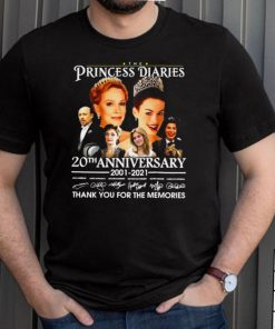The Princess Diaries 20th Anniversary 2001 2021 Thank You For The Memories T shirt