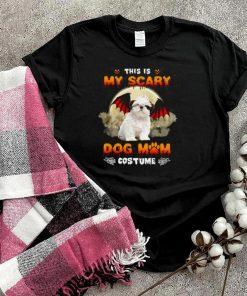 This Is My Scary Dog Mom Costume White Shih Tzu Halloween T shirt