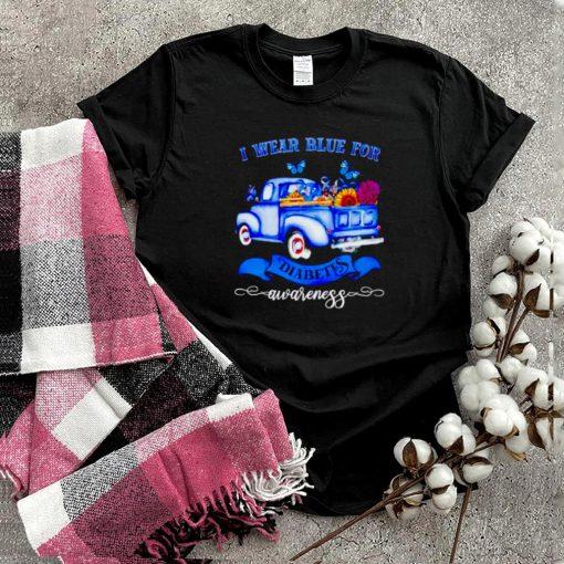 Truck I wear blue for diabetes awareness shirt
