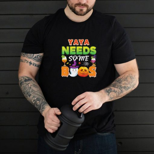 Yaya Mama Needs Some Boos Halloween Cute Ghost Pumpkin Scary Shirt