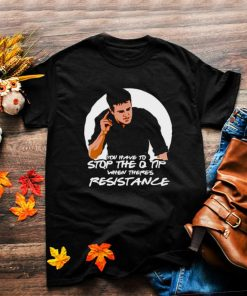You have to stop the Q tip when theres resistance shirt
