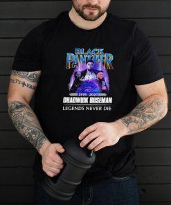 black panther 1976 2020 chadwick boseman legends never die shirt