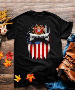 fire Dept Firefighter American Flag Shirt