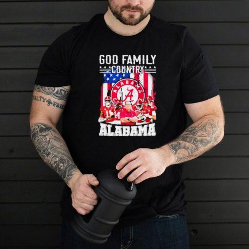 god family country alabama football american flag shirt