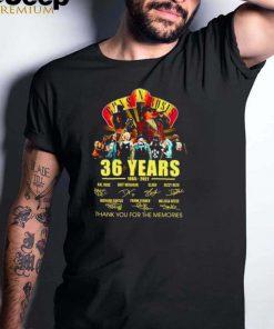 36 years 1985 2021 Gun N Roses signatures shirt