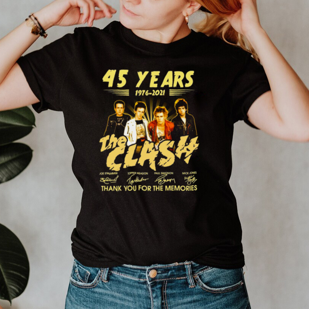 45 Years 1976 2021 The Clash Signature Thank You For The Memories T shirt