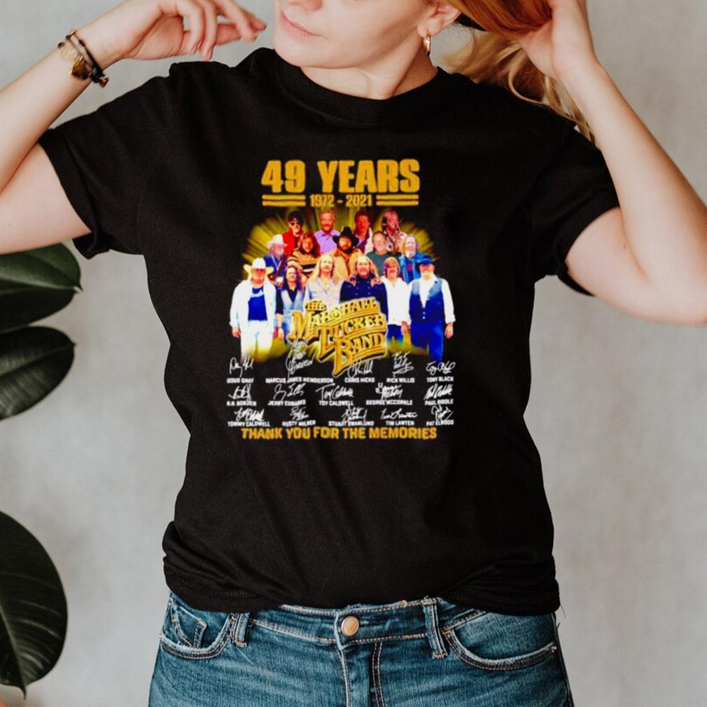 49 years 1972 2021 The Marshall Tucker Band signatures shirt