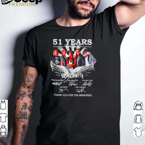 51 years 1970 2021 Aerosmith signatures shirt