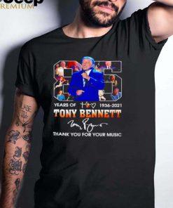 85 years of 1936 2021 Tony Bennett signature shirt