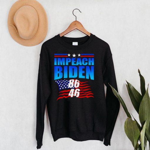 86 46 Impeach Biden Anti Biden American Flag Shirt