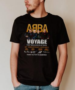 ABBA Voyage first new album in 40 years 49th anniversary 1972 2021 signatures thank you shirt