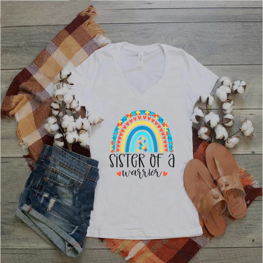 Autism Awareness Rainbow Puzzle Piece Ribbon Proud Sister shirt